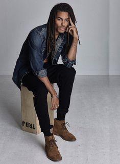 JE Model Management - Jacob Robinson Black Male Models, Male Models Poses, Hot Black Guys, Black Men, Dreadlocks Men, Dark Skin Men, Mens Braids Hairstyles, Celebrities Then And Now, Jamel