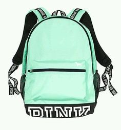 Victorias Secret PINK Campus Backpack Bookbag Seafoam Mint Green Logo Victoria's