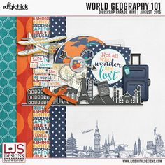 Free Mini Kit from LJS Designs  {DigiScrap Parade August 2015: World Geography 101}