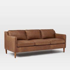 Hamilton Leather Sofa   west elm