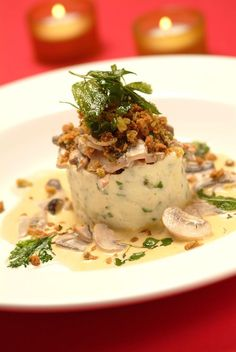A delicious alternative to the more traditional dish. Well worth a try.  Wild Mushroom Stroganoff with Herb Crumb Topping