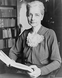 """""""I long to speak out the intense inspiration that comes to me from the lives of strong women."""" Ruth Benedict (1887 – 1948) Anthropologist who taught at Columbia, following in the footsteps of her mentor, anthropology pioneer Franz Boas. She both carried on and extended his work with her own.She wrote """"Patterns of Culture"""" and """"The Chrysanthemum and the Sword"""".She also wrote """"The Races of Mankind,"""" a World War II pamphlet for the troops showing that racism was not grounded in scientific…"""