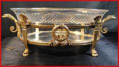 magnifique coupe bronze  signée Victor SAGLIER et cristal baccarat XIXéme   Art, antiquités, Objets du XIXème, et avant   eBay!