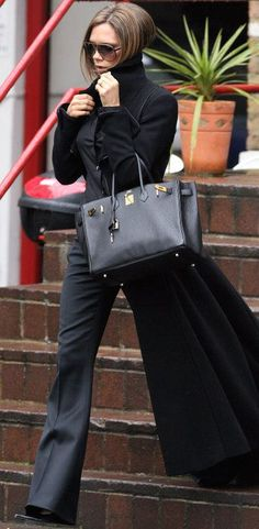 Victoria Beckham's London style.