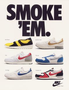 Nike Light Weight ad from June 1986 feat the brand's racing shoes
