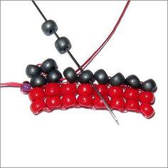 Operation Tackle That Bead Stash!: Basic Stitch Tutorial - Herringbone Stitch