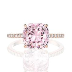 Pink Tourmaline Ring, Created Gemstone, White Gold Plated Sterling Silver Rings for Women, Engagement Wedding Cushion Cut Engagement Ring, Engagement Rings, Sapphire Rose Gold Ring, Wedding Anniversary Rings, Wedding Bands, Emerald Cut Rings, Man Made Diamonds, Vintage Rings, Or Rose