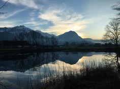 "Beautiful reflections on the ""Baggerseeli""."