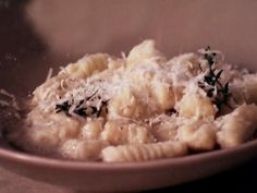 Giada's Gnocchi with Butter Thyme Sauce. Saving this recipe for the gnocchi, not the sauce
