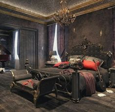 Gothic Bedroom By Rmt Studios