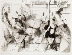 Tour de France, Tuulikki Pietilä 1951 Art History, Printmaking, Mythology, Abstract, Artwork, Paintings, Illustrations, Artists, Amazing