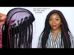 HOW TO DO CROCHET BRAID WIG WITH SENEGALESE TWIST | XTREND HAIR STORE - YouTube Diy Crochet Wig, How To Do Crochet, Senegalese Twist Braids, Braids Wig, Box Braid Wig, Side Braids, Short Box Braids Hairstyles, Black Girls Hairstyles, African Hairstyles