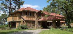 "Frank Lloyd Wright, ""Graycliff', the Isabelle Martin house, outside Buffalo, NY"