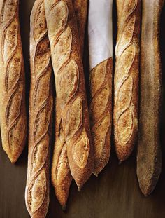 How a true baguette looks like. Perfect scoring.