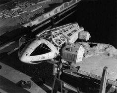 """Space 1999 was originally intended to be a spin-off series to the earlier  Gerry Anderson TV series: UFO. Moonbase Alpha was originally going to be  """"Moon City"""", which was a build-up from the smaller moonbase seen in UFO. As  the show was originally supposed to be in the same universe, the ships were  originally meant to be the UFO interceptors.  These vehicles came from this beautiful concept piece by the legendary  concept artist Mike Trim. These vehicles were designed when the Apollo…"""