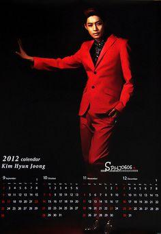 Kim Hyun Joong / 김현중 / 金賢重 Fever: Kim Hyun Joong Kiss Kiss / Lucky Guy 2012 Calendar Posters