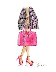 YSL Pink & Tweed