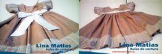Feito pela aluna Frederica Almeida na escola de costura Lina Matias, para a sua filha.