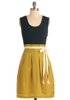 Black yellow dress
