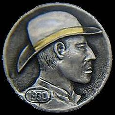 James Stewart Hobo Nickel, Buffalo, Classic Style, Cactus, Coins, Carving, Succulents, Rooms, Wood Carvings