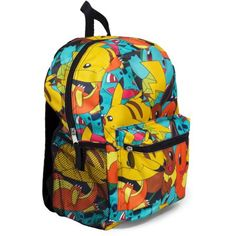 16 Multi Print Backpack W  Poke Ball Zipper Pull d07857c8f4285