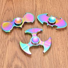 Multi-Shaped Colorful Rotating Fidget Hand Spinner ADHD Autism Fingertips Fingers Reduce Stress Toys