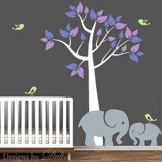 Amazoncom Cutie Grey Elephants With Colored Bubble Hearts Vinyl - Elephant wall decalsamazoncom elephant bubbles wall decal nursery decor baby