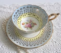 Pretty EB Foley China Tea Cup & Saucer by NicerThanNewVintage on Etsy https://www.etsy.com/ca/listing/492277825/pretty-eb-foley-china-tea-cup-saucer