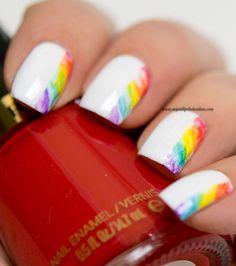 - Rainbow Nails - My Nail Polish Online Cute Nails, Pretty Nails, My Nails, Popular Nail Colors, Nail Polish Online, Rainbow Nail Art, Sunflower Nails, Kylie Jenner Nails, Nail Designs
