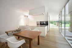 klinker wei streichen innen interior modern design wohnkueche holzboden hausfarbe reihenhaus. Black Bedroom Furniture Sets. Home Design Ideas