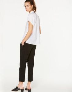 Zonja Bluse Weiß aus Tencel #veganemode #fairfashion #veganfashion Pajama Pants, Normcore, Pajamas, Shopping, Style, Fashion, Vegan Fashion, Blouse, Summer