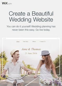 Get your guests excited with a stunning wedding website. Create yours today - it's easy!
