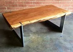 Leg Style Option For Custom Coffee Table Many Metal Finishes And Can Be Designed To Float Under The Wood