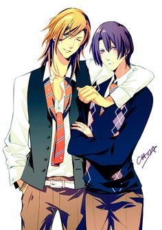 uta no prince sama yaoi between Ren and Masato again