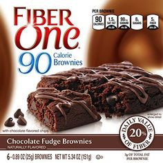 Fiber One Snacks Fiber One 90 Calorie Soft-Baked Bars Chocolate Fudge Brownie, 6 Bars, 5.34 oz. - http://bestchocolateshop.com/fiber-one-snacks-fiber-one-90-calorie-soft-baked-bars-chocolate-fudge-brownie-6-bars-5-34-oz/