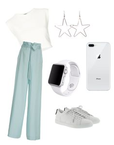 """are you ready to hangout with me?"" by rofaa187 ❤ liked on Polyvore featuring Puma, Sally Lapointe, Yves Saint Laurent, Apple, outfit and ootd"