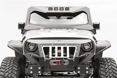 Fab Fours - Front Visor Cowl Combination - Fits 2007 to 2016 JK Wrangler, Rubicon and Unlimited - 4WD.com