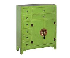Mueble auxiliar de madera – verde Lockers, Locker Storage, Dresser, Auction, Cabinet, Furniture, Home Decor, Pedestal Tables, Recycling