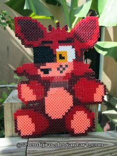 Foxy from FNAF | Bead Sprite | DIY Video by Shendijiro.deviantart.com on @DeviantArt