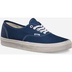 f338e2463c Vans Womens Vans Authentic - Vintage Dark Blue Denim Marshmallow ( 45) ❤  liked on Polyvore featuring shoes
