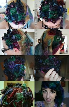 Here's the tutorial I was asked to do - my peacock hair!...
