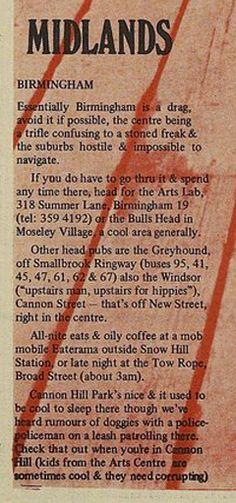 Hitching in Birmingham, 1970