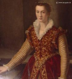 Unknown Lady by a follower of Tiziano  have to research this one, i dont see mismatched dresses too often