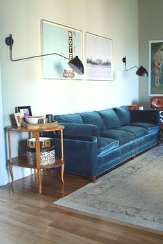 I'm still not over a blue velvet sofa.