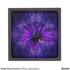 Purple Daisy Passion Premium Keepsake Boxes