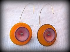 Marigold and Pink Earrings