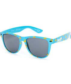313f8a6cc3 Get a fun new look for the beaches with rubber ducky print on blue plastic  frames