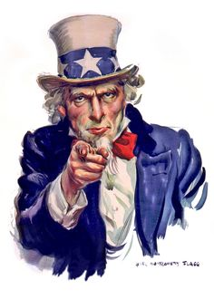 Uncle Sam I Want You - Poster Illustration I Want You Poster, Oncle Sam, Norman Rockwell Art, Patriotic Pictures, Propaganda Art, I Love America, Gothic Anime, Patriotic Decorations, Cultura Pop