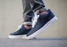 Nike Air Force 1 Low Obsidian/White/Blue post image