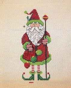 Debbie's Cross Stitch; Santa Hang-Up, design by Diane Arthurs